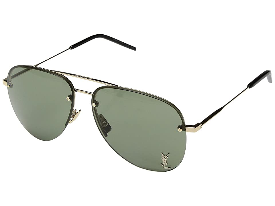 Saint Laurent Classic 11 M (Gold/Mirror Bronze) Fashion Sunglasses
