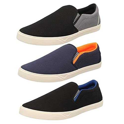 Chevit Men's Multicolor Combo Of 3 Loafers & Moccasins - 8 Uk/Ind.