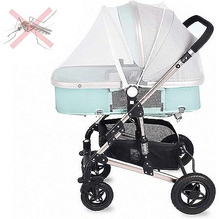 Mosquitera Carro Bebe Universal, se Puede Utilizar como Mosquitera para Capa de Cochecito de Bebé, Tejido de Malla Resistente a la Corrosión, Lavable, Anti-picadura de Mosquitos, Etc. (White)