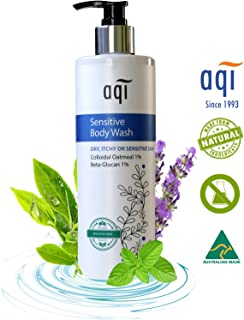 Sensitive, Itchy & Dry Skin Moisturizing Body Wash - Shower Gel - 16.9 fl oz - Gentle, Soothing & pH Balanced Body Wash for Men & Women - Paraben & Sulphate Free - Made in Australia By AQI