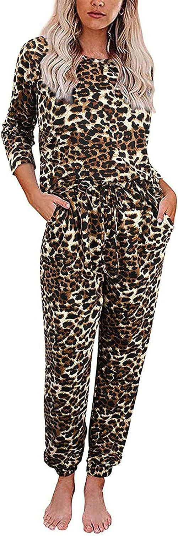 MEDRESPIRIA Womens Pajamas Sets PJ,Gradient Printed 2 Piece Loungewear Long Sleeve Sleepwear Tracksuit Nightwear Pjs Set