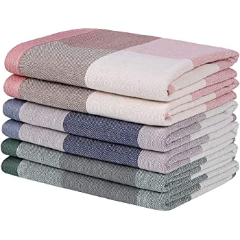 15x DISH CLOTHS 100/% Cotton Absorbent White Drying Kitchen Tea Towels Dry Cloth