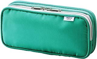 LIHIT LAB. Double Pen Case L size, Green, 4.1 x 8.7