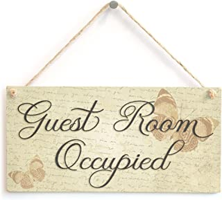 Meijiafei Guest Room Occupied - Beautiful Guest Room Sign/B&B Door Signs 10