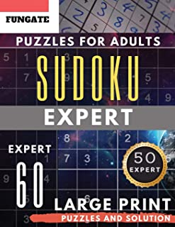 Expert Sudoku Puzzles for Adults Large Print: FunGate Activities Book | Extreme Difficult SUDOKU Puzzle adults entertainment (Sudoku Maths Book) (Sudoku Maths Book Large Print)