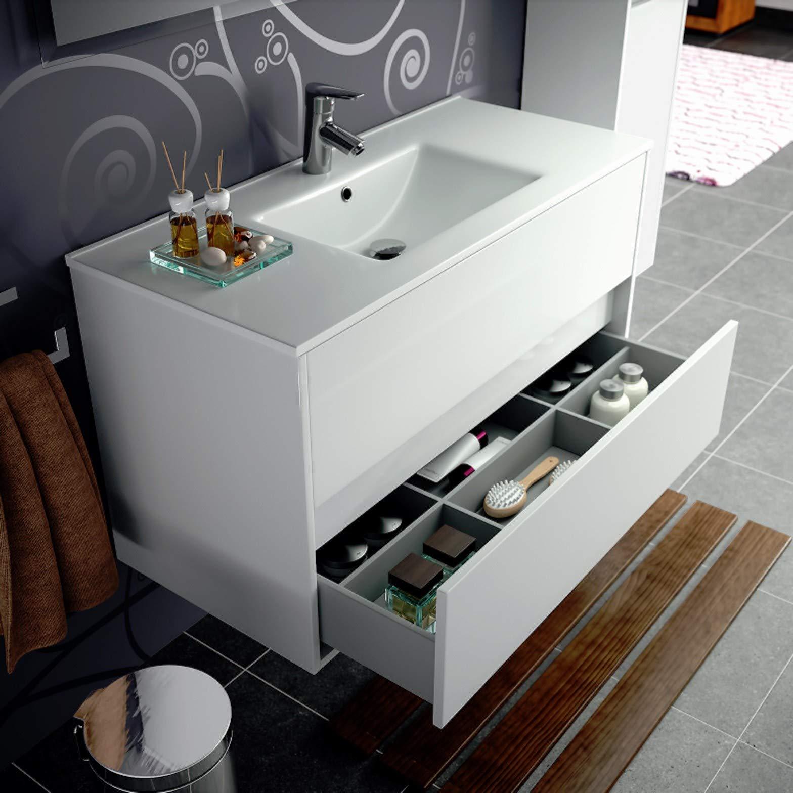 Salgar noja 700 - Mueble noja 700 lavabo suspendido/a blanco: Amazon.es: Bricolaje y herramientas