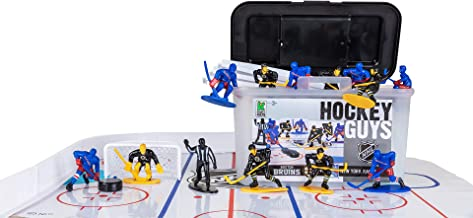 Kaskey Kids NHL Hockey Guys –Rangers vs Bruins - Inspires Kids Imaginations with Endless Hours of Creative, Open-Ended Play – Includes 2 Teams & Accessories – 25 Pieces in Every Set