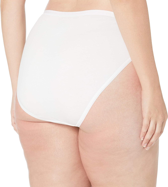 Amazon Essentials Women's Plus-Size 6-Pack Hi-Cut Cotton Stretch Bikini Underwear