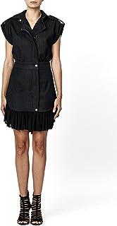 فستان نيكول ميلر بأزرار من الجينز الداكن للنساء