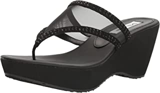NINA Women's Dalyne Wedge Flip Flop