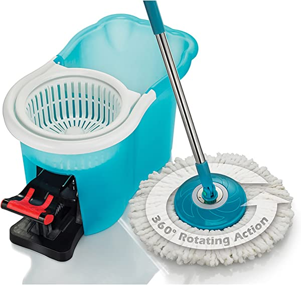 Hurricane Spin Mop Home Cleaning System By BulbHead Floor Mop With Bucket Hardwood Floor Cleaner