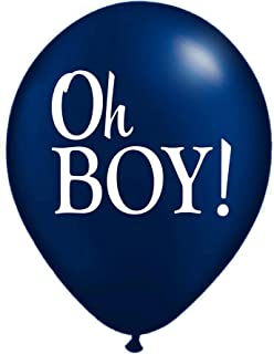 Blue Oh Boy! Balloon, Navy Blue Balloon, It's A Boy, Pregnancy Announcement, Photo Prop, Baby Announcement Balloon, Gender Reveal Balloon, Set of 3