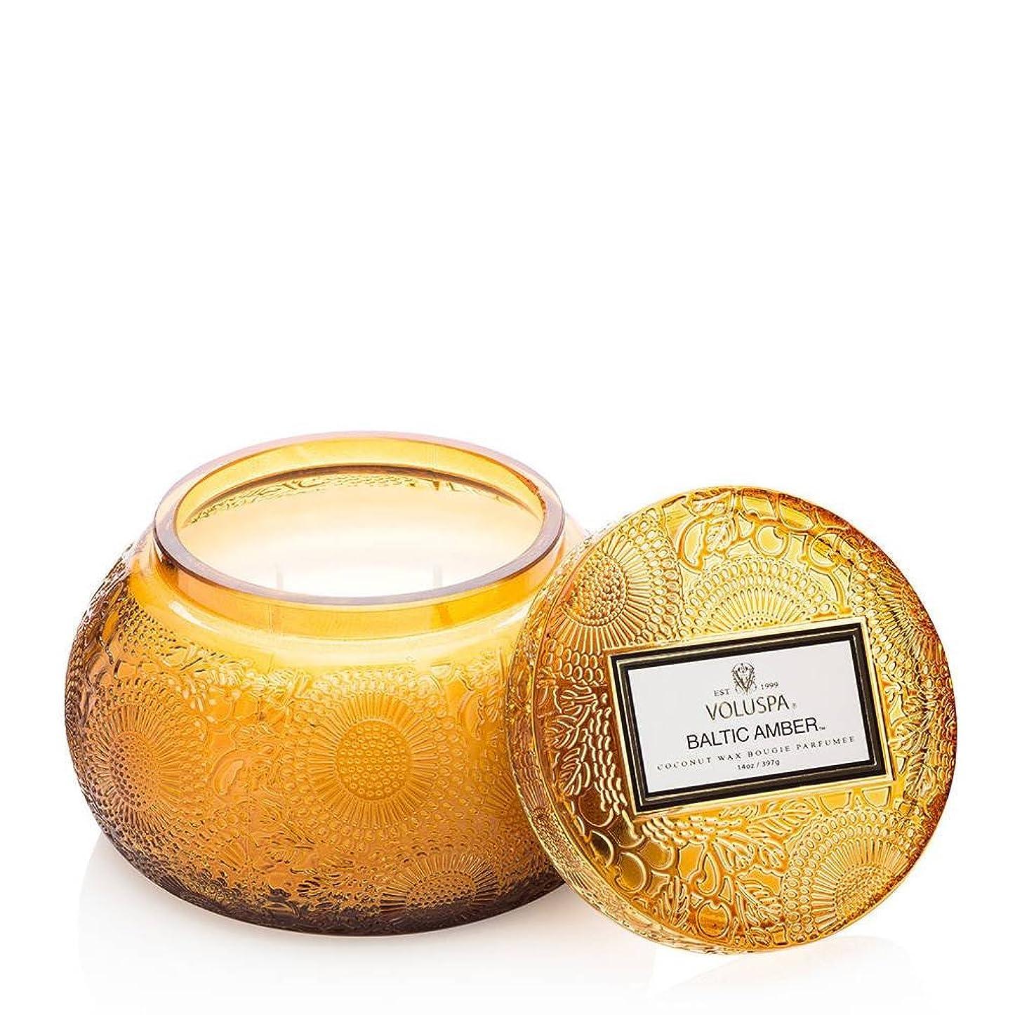 抽象化非行茎VOLUSPA チャワングラスキャンドル Baltic Amber バルティックアンバー GLASS CANDLE ボルスパ