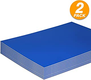 Foam Boards Lightweight Sign Blank Foam Core Poster Backing Boards School and Office Signboard Durable Poster Sheets Blue Blank Signs for Presentation and Crafts (Pack of 2) by - Emraw