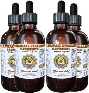 Barberry Liquid Extract, Organic Barberry (Berberis Vulgaris) Dried Root Bark Tincture Supplement 4x4 oz