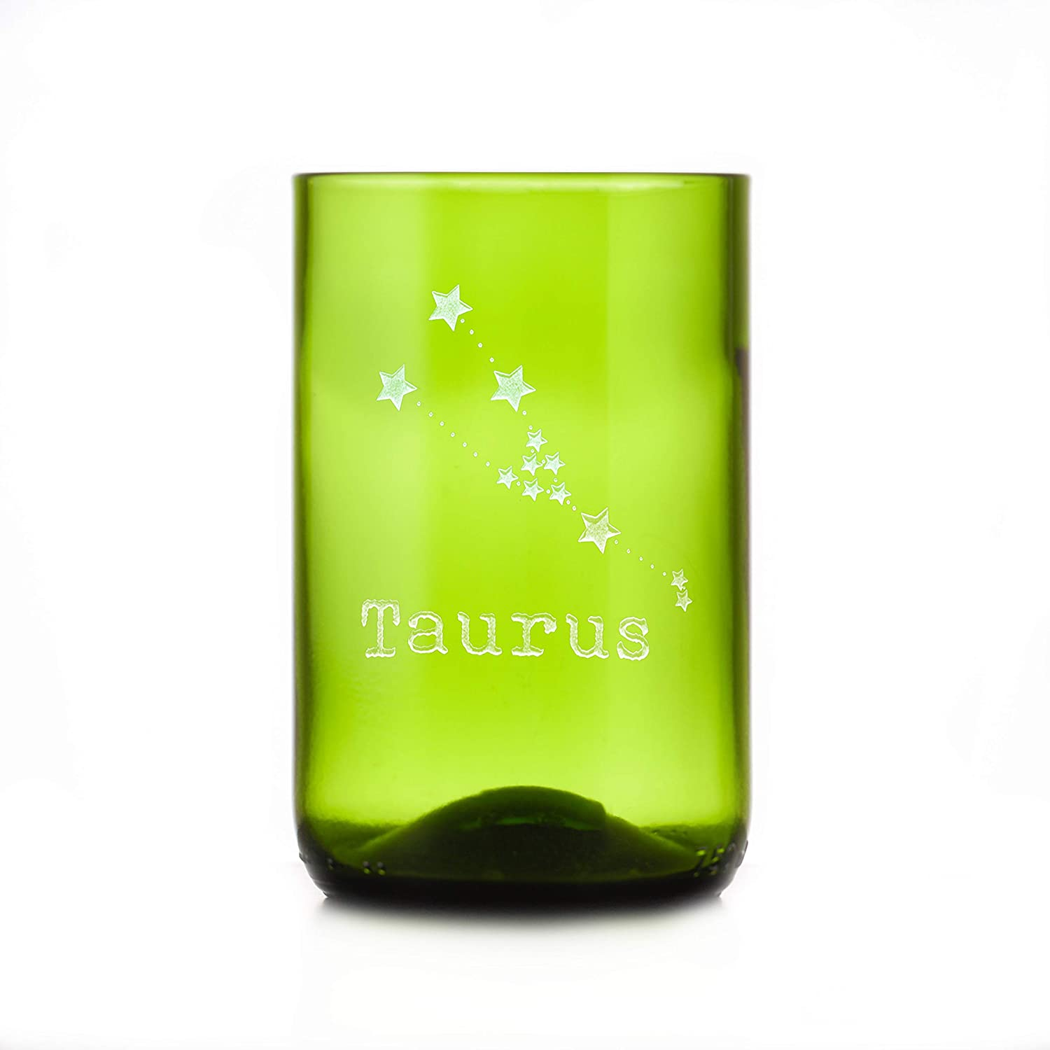 Constellation 100% quality warranty Zodiac Ranking TOP10 Engraved Green Bottle Glass Wine Recycled