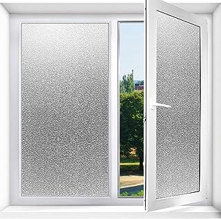 loyouve 窓用フィルム 遮光シート 45*5M 窓ガラス目隠しシート すりガラス調 遮光 断熱 結露防止 静電吸着 接着剤必要なし 風呂 浴室 玄関目隠し ベランダ プライバシー保護 目隠しシート