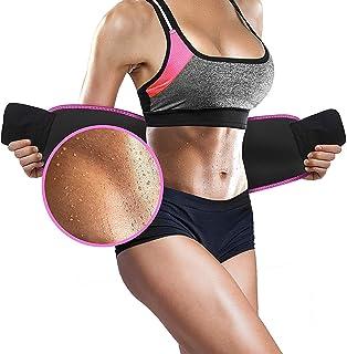 BRITSPEAR Men's and Women's Waist Trimmer Slimming Neoprene Ab Belt Trainer for Faster Weight Loss Fat Burner Wrap after d...