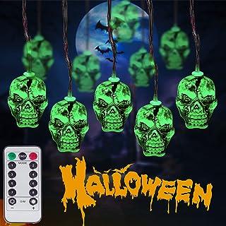 Halloween skull string green shading light
