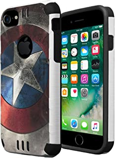 HRWireless iPhone 7 Case, iPhone 6 / 6S Case, Capsule-Case Hybrid Dual Layer Silm Defender Armor Combat Case Brush Texture Finishing for Apple iPhone 7 / iPhone 6S / iPhone 6 - (Rock Star)