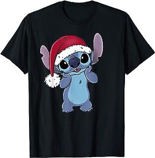 Disney Lilo & Stitch Christmas Santa Hat Stitch T-Shirt