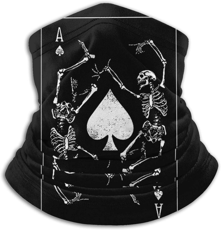 Goth Punk Ace Of Spades Card Unisex Adult Neck Gaiter Warmer Dust Sports Balaclava Ski Face Scarfcold Weather Bandana