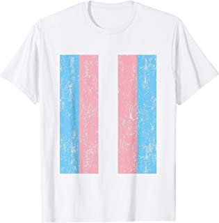 Transgender Pride Flag Vintage Trans Men Kids Women Vintage T-Shirt