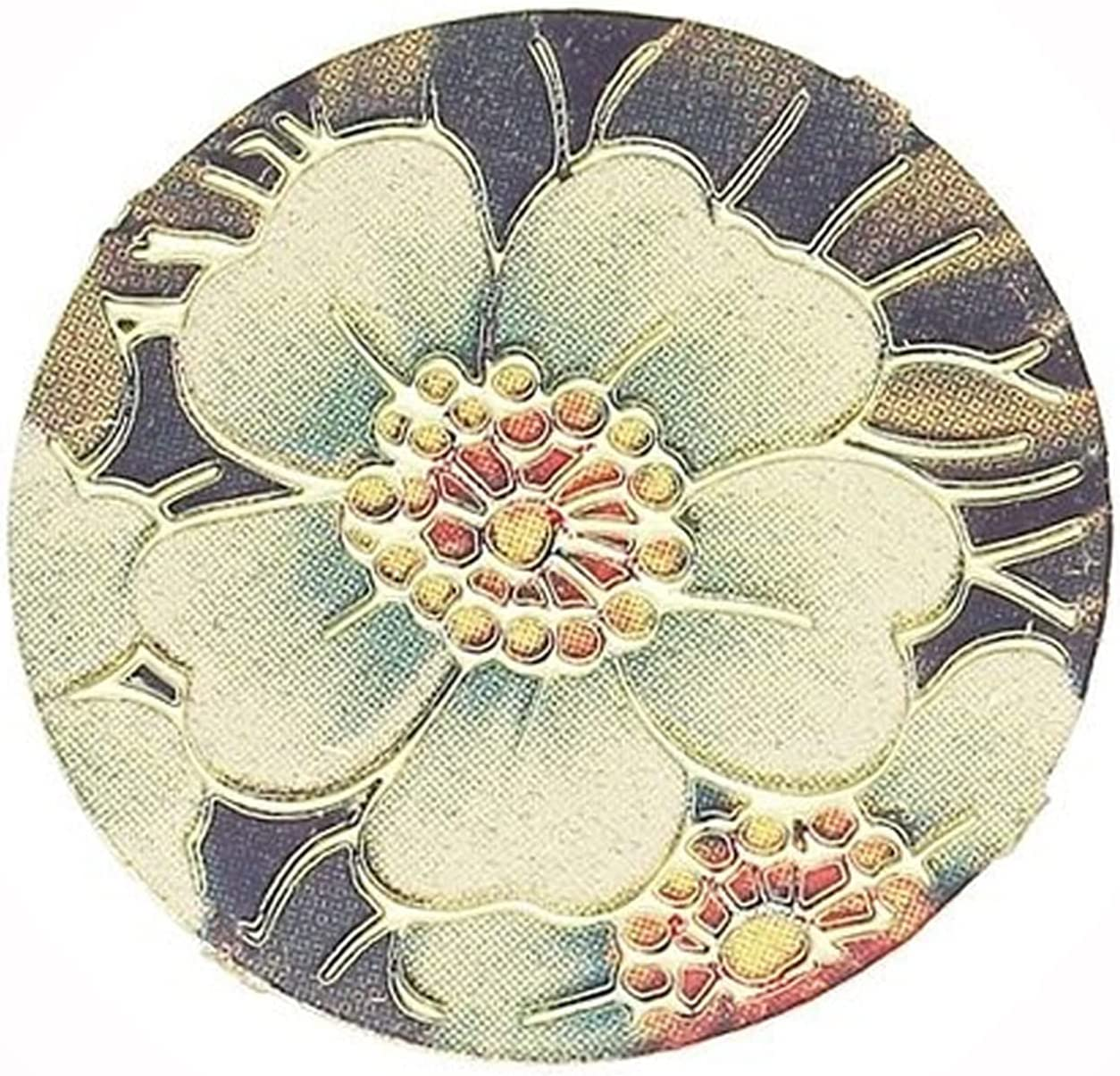 New White Max 41% OFF Flower Gold Plated Max 69% OFF 20mm for Charm Floating Plate Disc