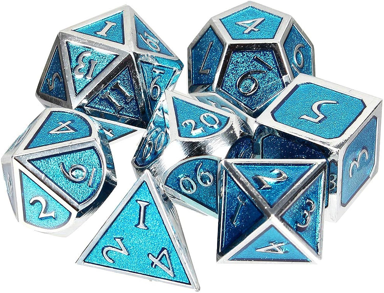 HELEISH Dadi multistrato Dadi in mettuttio solido Dadi poliedrici Gioco di ruolo Dice Gadget Gioco di ruolo Outil accessoire