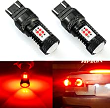 JDM ASTAR Extremely Bright 3000 Lumens High Power 7440 7441 7443 7444 992 LED Bulbs with Projector,Brilliant Red