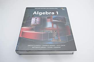 Algebra 1 Teacher Edition with Solutions Key