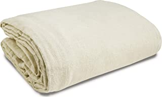 Canvas Drop Cloth (Size 6 x 9 Feet) Pack of 1 - Pure Cotton Drop Cloth – Painters Drop Cloth for Furniture & Floor Protect...