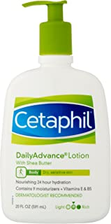 Cetaphil Daily Advance Lotion with Shea Butter, Vitamin E & B5 for Dry Sensitive Skin 591 ml