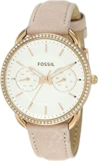 Fossil Women's Quartz Watch analog Display and Leather Strap, ES4393