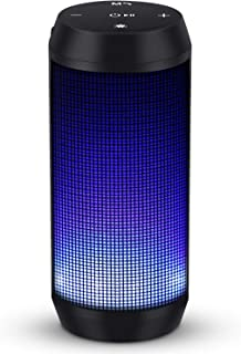 MUBYTREE Bluetooth Speakers Portable Wireless LED with Lights 8H Playtime Build-in Mic for Outdoor, Home & Travel