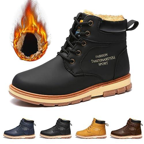Leather Suede Walking Boots Amazon Co Uk