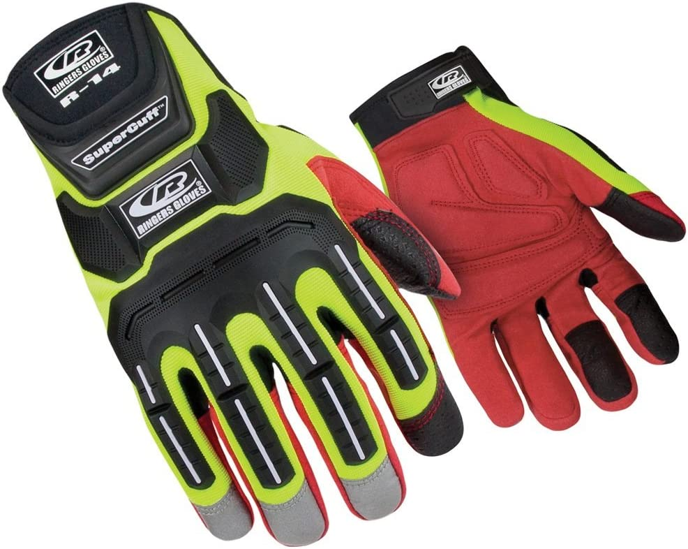 Ringers Gloves New mail order R-14 Mechanics famous HiVis and P Hand Visibility Glove
