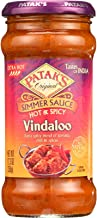 Pataks Simmer Sauce - Hot and Spicy - Vindaloo - Extra Hot - 12.3 oz - case of 6 - - Gluten Free - All Natural
