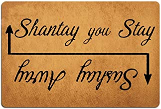 Eureya Sashay Away, Shantay You Stay Doormat Custom Home Living Decor Housewares Rugs and Mats State Indoor Gift Ideas 23....