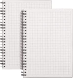 HULYTRAAT Graph Ruled Spiral Notebook Math Composition Wirebound Book, A5 Size 5.8 x 8.3 Inches, 5mm-Square Grid 100 gsm I...