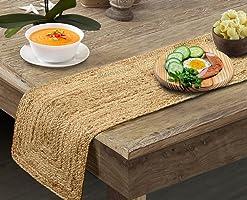 pepme Jute Table Runner, Braided Handmade Natural Color Handwoven Rectangular Mat for Dining Table, Floor, Bed ( Beige,...