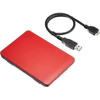 玄人志向 SSD/HDDケース(レッド) 2.5型 USB3.0接続 ACアダプター不要/ネジ止め不要/3ステップの簡単組立 GW2.5TL-U3/RD