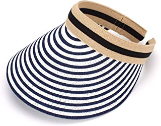 MK MATT KEELY Women's Visor Summer Lady Sun Hat Wide Brim Straw Cap