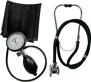 Tiga-Med - Tensiómetro de brazo profesional (K 1 + estetoscopio de doble cabezal), color negro