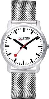 Mondaine - Simply Elegant- Reloj de Acero Inoxidable para Hombre y Mujer, A638.30350.16SBM, 41 MM