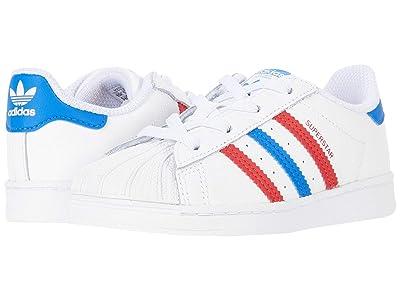 adidas Originals Kids Superstar EL (Infant/Toddler) (Footwear White/Blue/Scarlet) Kids Shoes