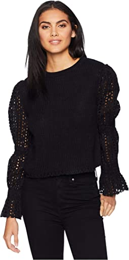 Eyelet Sleeve Sweater