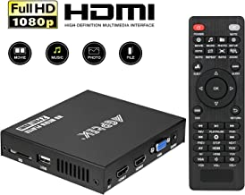 پخش کننده رسانه ای، 2 پورت HDMI 1080P Full-HD Portable Digital Player، پخش ویدئو و عکس با USB Drive / کارت های SD / HDD / دستگاه های خارجی، خروجی HDMI / AV / VGA
