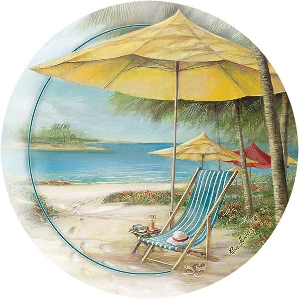 Thirstystone Stoneware Coaster Set Beach Chair With Umbrella