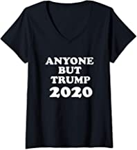 Womens Anyone But Trump 2020, American Political T-Shirt  V-Neck T-Shirt